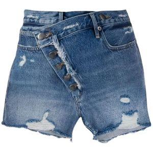 NWT FRAME Denim Asymmetrical High Waist Shorts